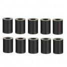 Distanzhülsen für M8 Schrauben, Länge 10mm, Kunststoff schwarz, 10 Stk.